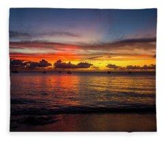 Sunset 4 No Filter Fleece Blanket