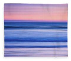 Sunset Abstract Fleece Blanket