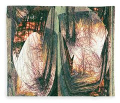 Sunset Abstract Fleece Blanket