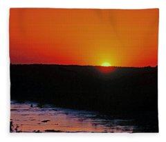 Sunset Along The James River Fleece Blanket