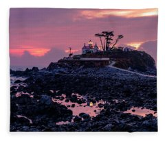 Sunset And Low Tide At Battery Point Fleece Blanket