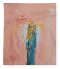 Sunset Angel Fleece Blanket