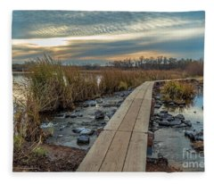 Sunset At Purgatory Creek Fleece Blanket