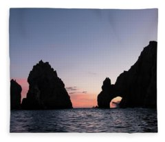 Sunset At The Arch Fleece Blanket