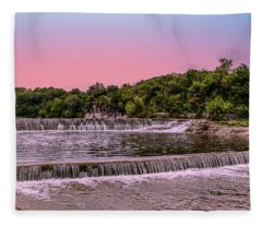 Sunset At The Falls Fleece Blanket