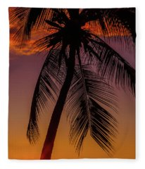 Sunset At The Palm Fleece Blanket