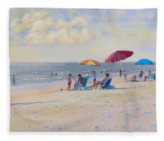 Sunset Beach Observers Fleece Blanket
