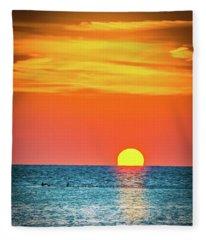 Sunset Captiva  Fleece Blanket