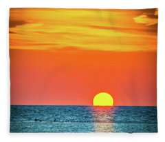 Sunset Captiva  Fleece Blanket