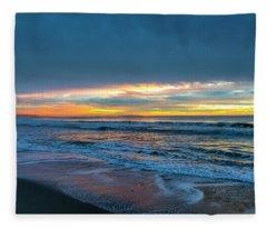 Sunset Fire Over Catalina Island 2 Fleece Blanket