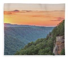 Sunset Flare Fleece Blanket