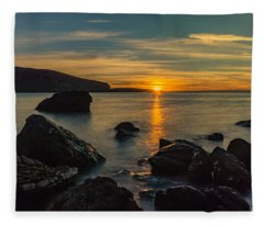 Sunset In Balandra Fleece Blanket
