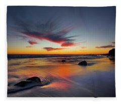 Sunset In Malibu Fleece Blanket