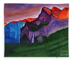 Sunset In The Mountains Fleece Blanket