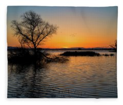 Sunset In The Refuge Fleece Blanket
