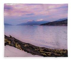 Sunset In Ushuaia Fleece Blanket