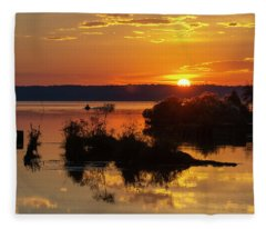Sunset, Mallows Bay Fleece Blanket