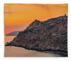 Sunset Near Cape Tainaron Fleece Blanket