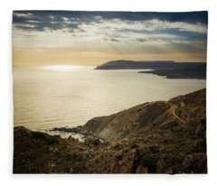 Sunset Near Tainaron Cape Fleece Blanket