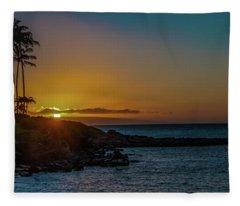 Sunset On Kapalua Fleece Blanket