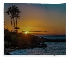 Sunset On Kapalua Fleece Blanket