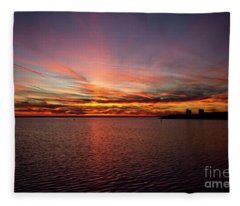 Sunset Over Canada Fleece Blanket