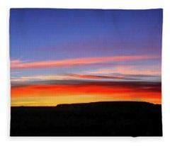 Sunset Over Navajo Lands Fleece Blanket
