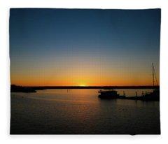 Sunset Over The Potomac Fleece Blanket