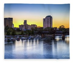 Sunset Over The Savannah - Augusta Ga Fleece Blanket
