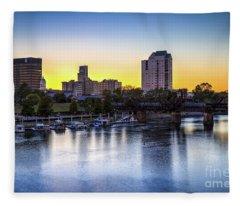 Sunset Over The Savannah - Augusta Ga Fleece Blanket