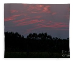 Sunset Pink Fleece Blanket