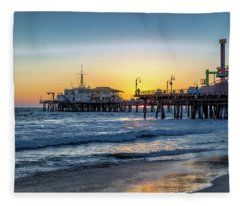 Sunset Under The Pier Fleece Blanket