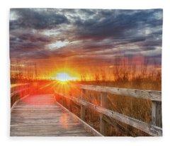 Sunset Walk Fleece Blanket