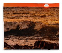 Sunset Wave Fleece Blanket