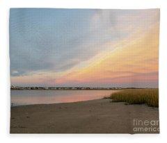 Sunset West Dennis Cape Cod Fleece Blanket
