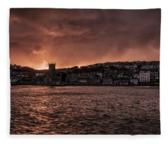 Sunset Harbour Fleece Blanket