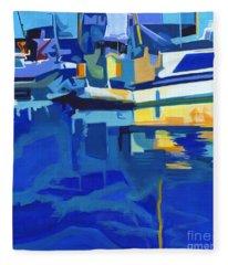 Sunshine Blues Fleece Blanket