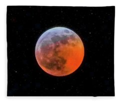Super Blood Moon Eclipse 2019 Fleece Blanket