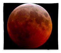 Super Blood Wolf Moon Fleece Blanket