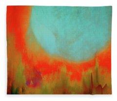Super Blue Moon Fleece Blanket