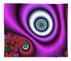 Super Hurricane Eye Magenta Fleece Blanket