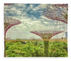 Fleece Blanket featuring the photograph Supertree Grove by Chris Cousins