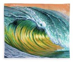 Surf Into The Sunset Fleece Blanket