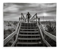 Fleece Blanket featuring the photograph Surfer by Steve Stanger