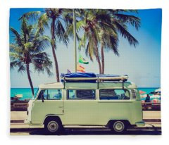 Surfer Van Fleece Blanket