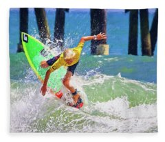 Surfer Yellow Fleece Blanket