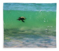 Surfing Turtle Fleece Blanket