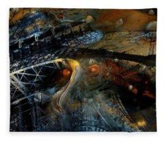 Surreal Eiffel Paris France Fleece Blanket