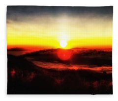 Surreal Sunset  Fleece Blanket
