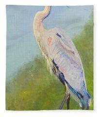 Surveyor - Great Blue Heron Fleece Blanket